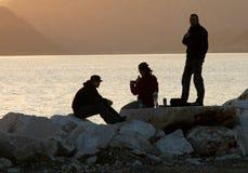 Horizon dans le coucher du soleil Photographie stock libre de droits