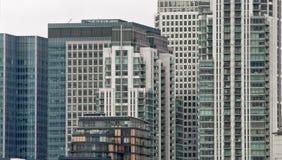 Horizon dans le quai jaune canari, Londres Photos libres de droits