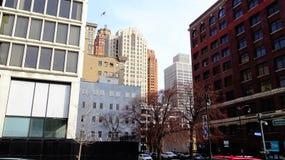 Horizon de bâtiment de rue du congrès Photo stock