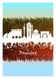Horizon de Bagdad bleu et blanc illustration de vecteur