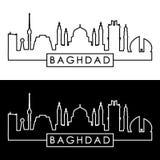 Horizon de Bagdad style linéaire illustration de vecteur