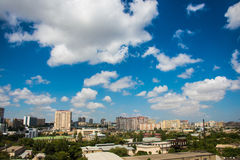 Horizon de Bakou pendant Image stock