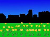 Horizon de Baltimore au printemps illustration de vecteur