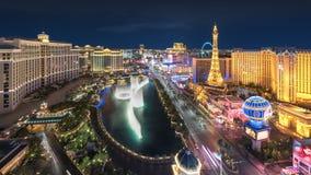 Horizon de bande de Las Vegas la nuit Image stock