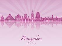 Horizon de Bangalore dans l'orchidée rayonnante pourpre illustration stock