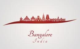 Horizon de Bangalore en rouge illustration libre de droits