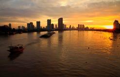 Horizon de Bangkok le matin images stock
