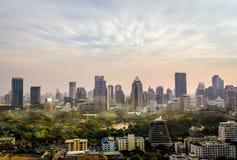 Horizon de Bangkok, paysage urbain Image libre de droits