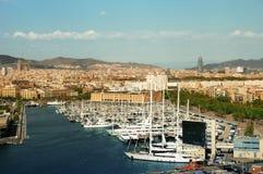 Horizon de Barcelone photos libres de droits