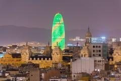 Horizon de Barcelone images stock
