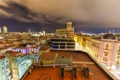 Horizon de Barcelone photos stock