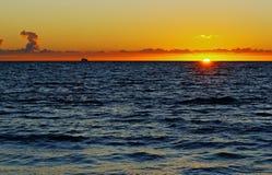 Horizon de bateau de croisière Images stock
