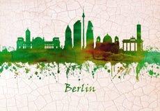 Horizon de Berlin Allemagne illustration stock