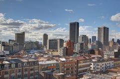 Horizon de Bogota Candelária Photographie stock libre de droits