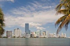 Horizon de bord de mer de Miami Images libres de droits
