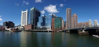 Horizon de Boston de panorama Photos stock