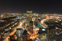 Horizon de Boston la nuit, le Massachusetts, Etats-Unis Photographie stock