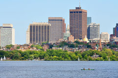 Horizon de Boston, le Massachusetts, Etats-Unis Photographie stock libre de droits