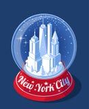 Horizon de boule de neige de New York City illustration libre de droits