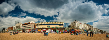 Horizon de Brighton images libres de droits