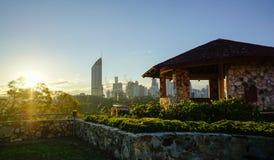 Horizon de Brisbane de point de kangourou, Australie Photos libres de droits