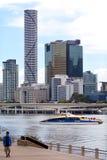 Horizon de Brisbane - tour d'infini Image stock