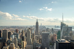 Horizon de bâtiments de Midtown de New York City Manhattan Images libres de droits