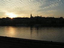 Horizon de Budapest Image stock