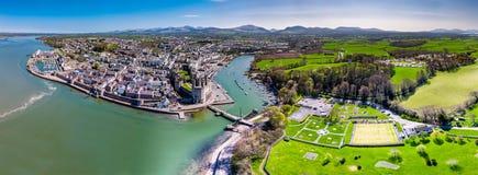 Horizon de Caernafon, Gwynedd au Pays de Galles - au Royaume-Uni image libre de droits