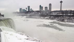 Horizon de Canada de chutes du Niagara Photographie stock