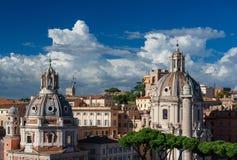 Horizon de centre de Rome Image libre de droits