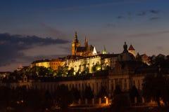 Horizon de château de Prague Image libre de droits