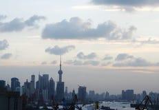 Horizon de Changhaï Photographie stock
