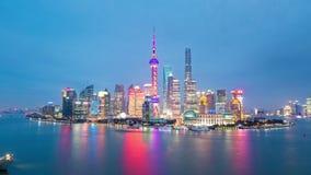 Horizon de Changhaï la nuit clips vidéos