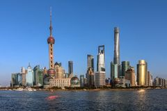 Horizon de Changhaï Pudong, Chine Photographie stock
