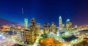 Horizon de Charlotte aux heures d'aube Photos libres de droits