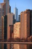 Horizon de Chicago à l'aube Photo libre de droits