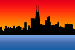 Horizon de Chicago illustration stock