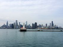 Horizon de Chicago photos libres de droits
