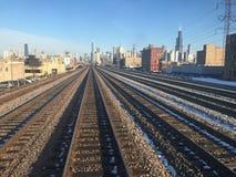 Horizon de Chicago Photographie stock libre de droits