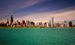 Horizon de Chicago Photographie stock