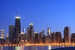 Horizon de Chicago du nord Images stock