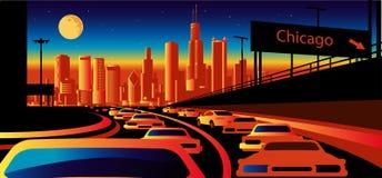 Horizon de Chicago l'Illinois illustration de vecteur