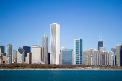 Horizon de Chicago Lakeshore Image stock