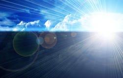 Horizon de ciel bleu Images stock