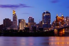 Horizon de Cincinnati Image libre de droits