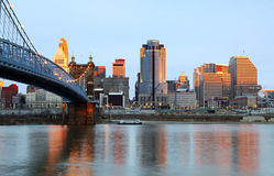 horizon de Cincinnati Ohio Photographie stock