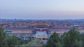Horizon de Cité interdite et de Pékin, Chine Vue de parc de Jingshan au coucher du soleil clips vidéos