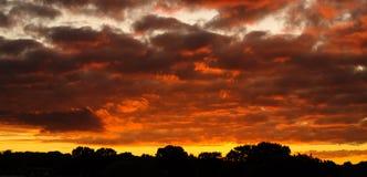 Horizon de coucher du soleil Images libres de droits