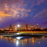 Horizon de coucher du soleil de Houston du Texas USA photographie stock libre de droits